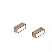 Полка подвесная под раковину 100 HATRIA SLIDING  wood system арт. YXTF92/YXTP92 прав/лев